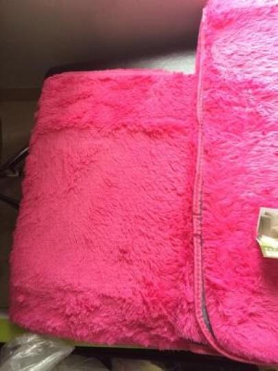 慕格 加厚地毯客厅卧室茶几地毯满铺床边室内长方形榻榻米毯 风情玫红 160*230CM 晒单图