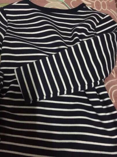 布丁娃 儿童内衣套装 2017秋冬季男童保暖睡衣女童加绒加厚不倒绒儿童秋衣秋裤宝宝家居服 企鹅灰 110 晒单图