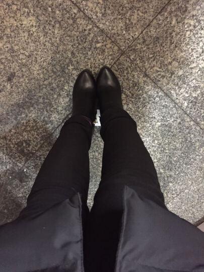 古奇天伦短靴女2018冬季新款欧美圆头女靴粗跟高跟防水台女鞋马丁靴侧拉链踝靴 靴子女 红色8519 35码 晒单图