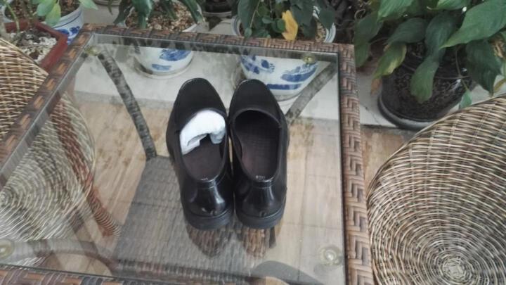 圣大保罗男士皮鞋男鞋真皮休闲皮鞋2017秋季新款软底套脚皮鞋 黑色-此款偏大一码 41 晒单图