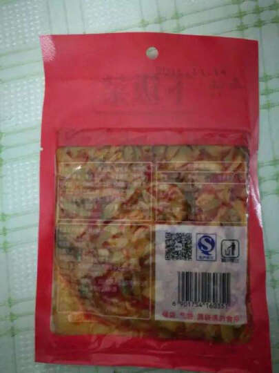 乌江 下饭菜 红油豇豆 涪陵榨菜 酱菜 腌制咸菜 大头菜 佐餐 拌饭菜 小菜 凉菜丝 80g/袋 晒单图