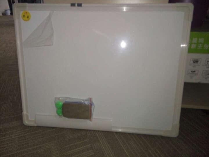 文立方 双面磁性白板 双白挂式磁性小白板 涂鸦板 家用写字白板教育培训支架式白板 45*60CM双面白 晒单图