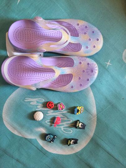 2017春夏凉鞋 女平跟水晶糖果变色洞洞鞋女沙滩鞋女玛丽珍果冻鞋新款 玛丽珍/玫红 38码 晒单图
