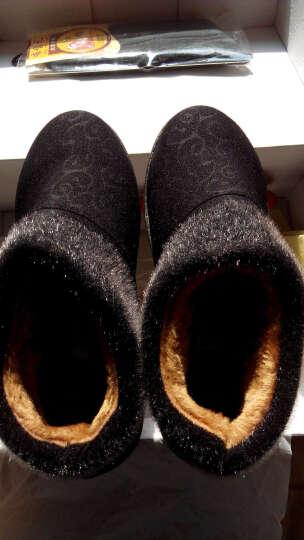 布舍元 冬季雪地靴女士英伦风老北京布鞋女鞋平底防滑加厚棉鞋中老年休闲妈妈鞋 54Y-9101黑色 39运动鞋码 晒单图