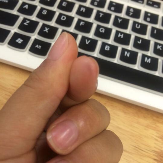 联想(lenovo)键盘膜  巧克力键盘膜 彩色键盘膜 凹凸键盘膜 K5819 联想一体机全透明键盘膜 C340/IR358 晒单图