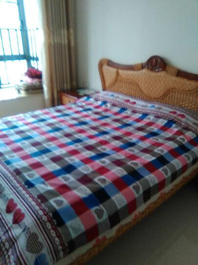 司库诺 藤沙发床 折叠双人沙发床 多功能沙发 实木沙发床 三+贵+茶几+角几 晒单图