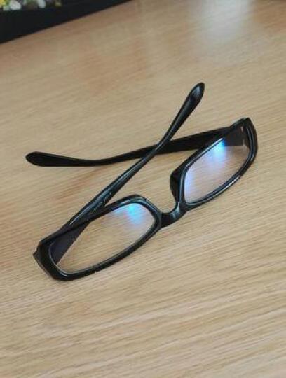 聚高电脑手机电视镜潮男女款平面镜平光防蓝光电竞游戏护目镜 砂黑 晒单图