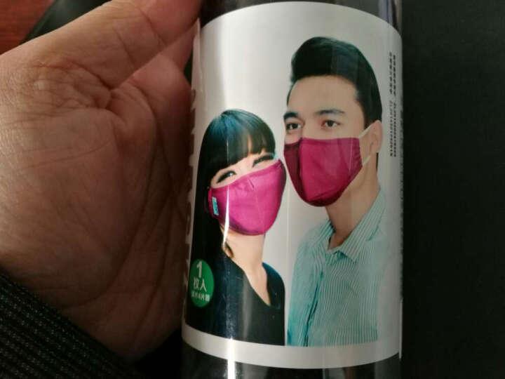 中体倍力口罩 N95 防雾霾颗粒物 耳带式  粉格  男女通用 晒单图