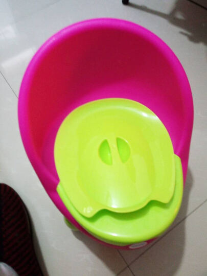 宝贝时代(Babyyuga) 大号儿童坐便器男女宝宝座便器婴儿小孩马桶 婴幼儿坐便器尿盆 红色+坐凳盖+坐垫 晒单图