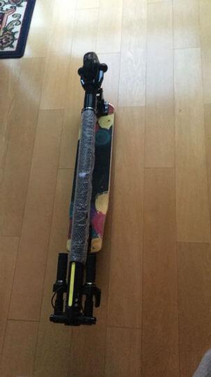 PUKKA轻量级原木踏板电动滑板车迷你折叠滑板电动自行车男女士儿童成人代驾代步车锂电 精灵黑 两轮款 25公里 晒单图