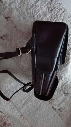 伊贝莎 2018新款头层牛皮双肩包女包真皮大容量背包简约休闲女士旅行韩版潮包 黑色新款 晒单图