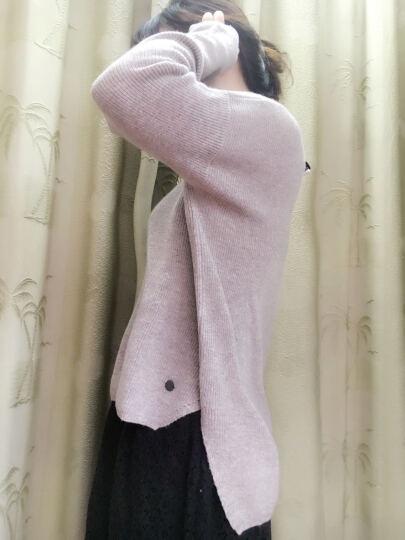 织乎秋冬新款圆领修身羊绒衫女打底套头多色针织衫毛衣女 浅驼色 XXL 晒单图