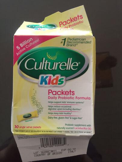 Culturelle 美国原装康萃乐 for kidsLGG益生菌粉调理肠胃幼儿童 婴幼儿食用  水果味咀嚼片(1盒) 晒单图