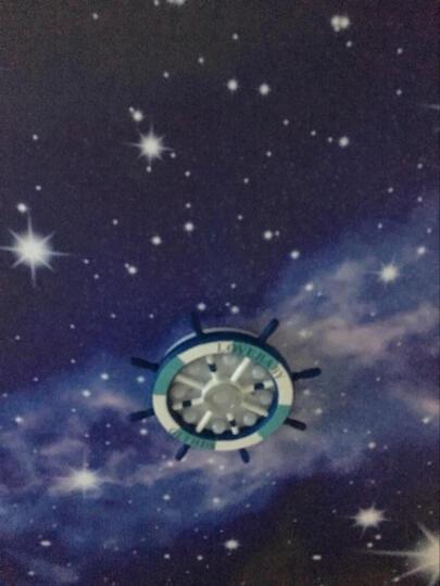 闪派地中海儿童房灯卧室房间灯饰led罩客厅圆形餐厅温馨创意个性男女孩儿童卡通灯具 蓝色陀-大号45W(直径65CM) 晒单图