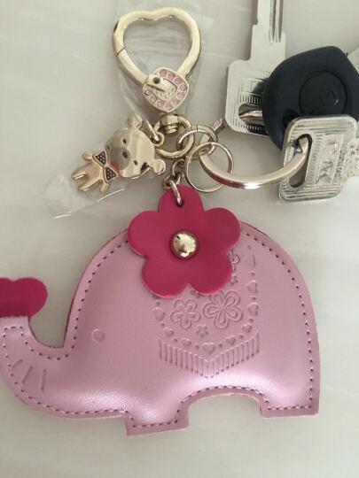 拓驰TOCHI 卡通系列女士钥匙扣 汽车钥匙链挂件 爱心小熊玫红 晒单图
