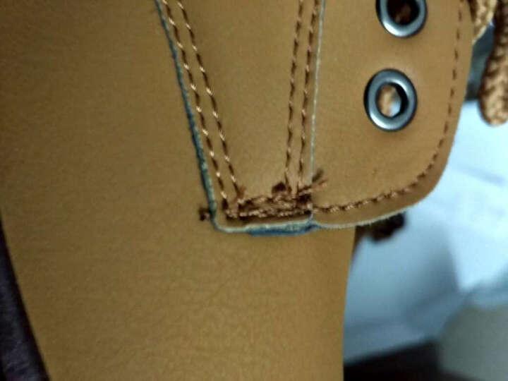 卢卡士 休闲鞋男鞋 男士大头皮鞋男 英伦厚底户外工装鞋学生板鞋 棉鞋Lxd032 黄棕色 40 晒单图