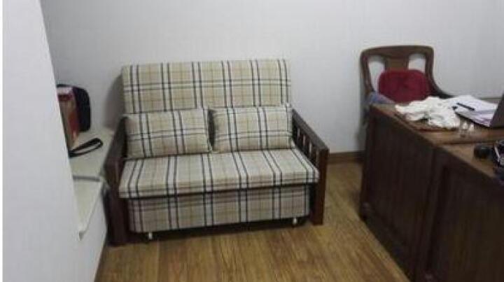 誉派折叠沙发床两用推拉多功能可拆洗沙发床1.0米1.2米1.5米 多格彩色 1.2M 晒单图