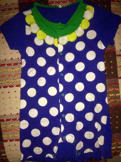 大眼睛比布(BABiBOO)婴儿外出服新生儿棉连体衣宝宝短袖包屁衣短袖哈衣爬服 橙色 73 晒单图