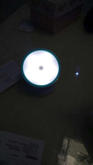 祥工坊 起夜led夜光灯卧室床头过道楼道壁灯电池小夜灯可充电人体感应灯停电应急灯 360感应灯【电池款】白光 晒单图