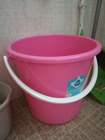 茶花塑料水桶 洗澡沐浴手提桶洗衣桶