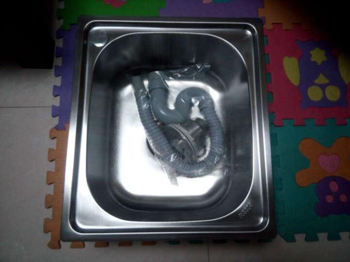 吉赛帝4539一体拉伸成型不锈钢1.3加厚小单槽不锈钢水槽 厨房不锈钢盆 不锈钢水斗 套餐一 晒单图