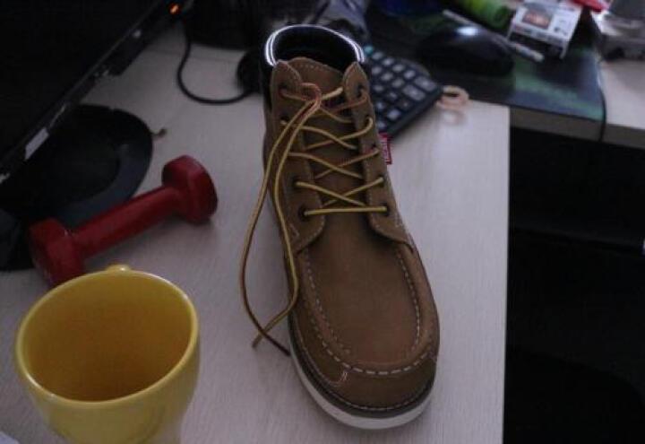 JACATA易佰达马丁靴男靴子男士真皮沙漠靴短靴英伦工装靴 橄榄绿JGWS15-09LV 40 晒单图