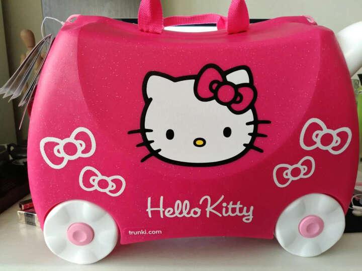trunki儿童行李箱 卡通图案可坐骑拉杆储物箱 户外旅行箱18L-Hello Kitty 3岁以上 英国潮牌 晒单图