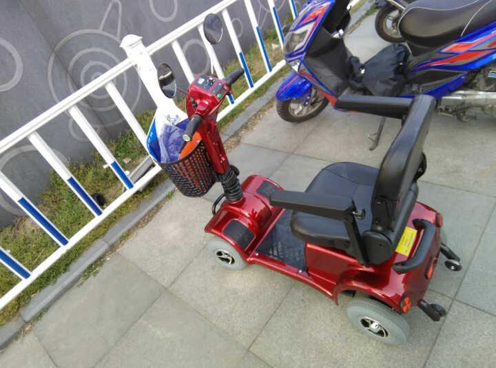 L上海欣亮(T4105)老年人代步车四轮电动车可折叠放汽车后备箱出口型便携式残疾车 红色 48V12AH锂电池手刹款 晒单图