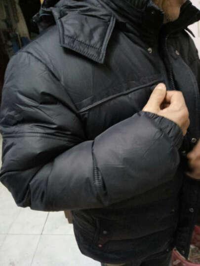 兰斯宇 羽绒服中老年外套 男士加厚上衣 2018新款大码爸爸冬装带帽子 藏青色 XXL建议140-170斤 晒单图