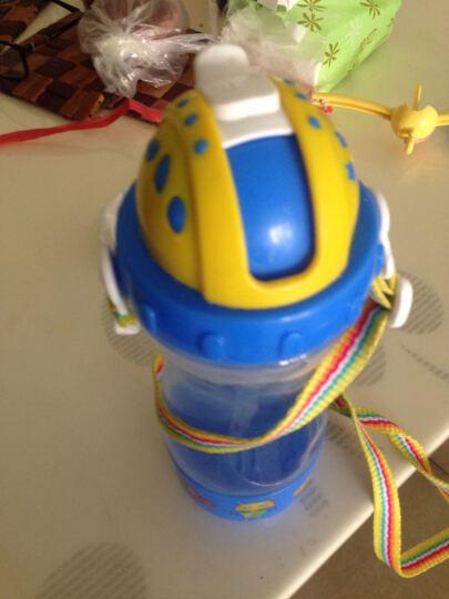 乐儿宝(bobo)儿童吸管杯 学生防漏水杯多功能杯带水壶(400ml蓝色) 晒单图