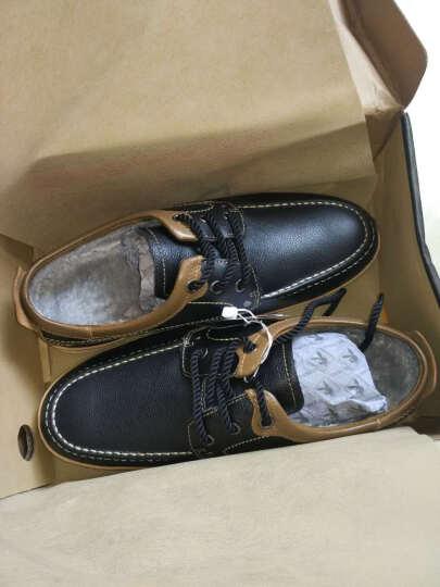 花花公子(PLAYBOY)新款男鞋 男士加绒韩版运动休闲鞋男棉鞋透气皮鞋潮流板鞋男 黑色 42 晒单图