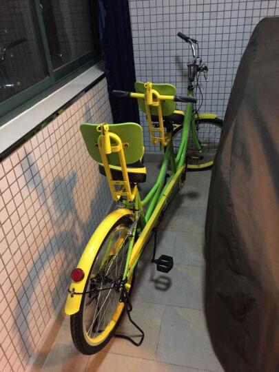 迈高登皇捷 双人自行车成人24寸情侣车两人骑脚踏车旅游景点出租观光车 黄绿 晒单图
