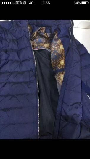 ZUA保暖加厚时尚羽绒服男外套立领羽绒衣冬装男士新款商务休闲青年男装 蓝色 XL/175 晒单图