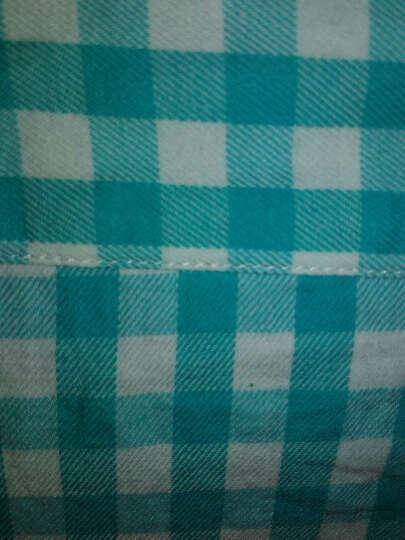 BRIOSO 纯棉格子衬衫女长袖学生春秋大码女装中长款全棉女生宽松上衣女士打底衫女式衬衣 N110018 L体重110斤左右合适 晒单图