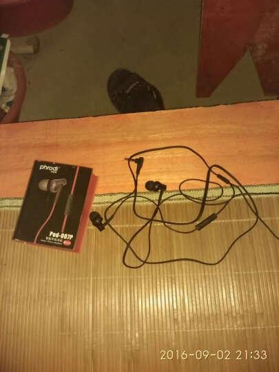 芙洛蒂 手机耳机入耳式 线控耳机小米4/4C/3/红米note耳机红米note2a/3耳机 黑蓝色带麦 晒单图