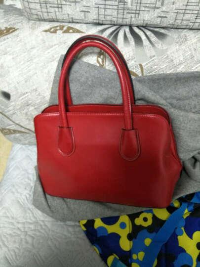 SXLLNS/赛伦斯 女包新款时尚淑女款欧美范单肩斜跨包牛皮女士手提包晚宴包包 1016 大红色 晒单图