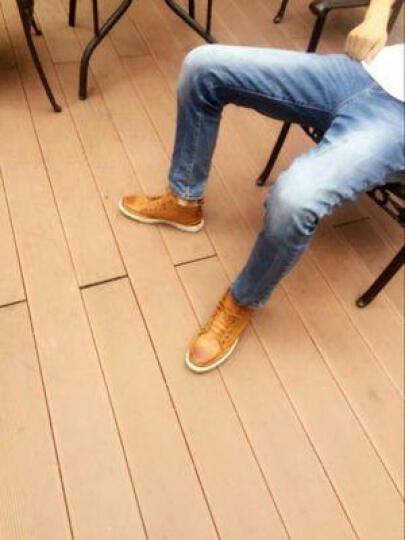 班尼咔咔 马丁靴男靴子男士短靴冬季保暖棉鞋高帮男雪地靴 205-1黑色【加绒】 44标准码 晒单图