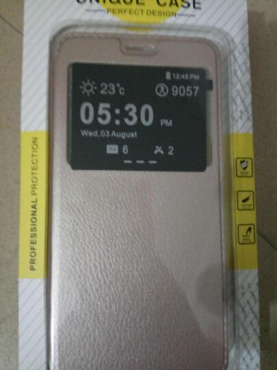 戴为 oppor9手机壳手机套智能翻盖支架皮套保护套防摔男女款 适用于oppo r9 R9/r9m/r9tm/r9t-金色-5.5英寸 晒单图