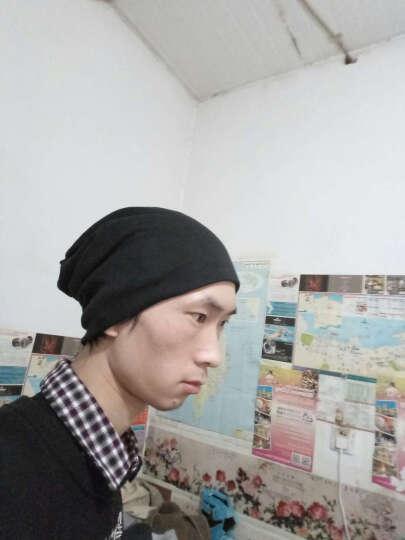 yiteer 买一送一双层帽子男女通用秋冬套头帽男韩版堆堆帽潮睡帽头巾帽月子帽棉包头帽女 紫色 均码(买一送一) 晒单图