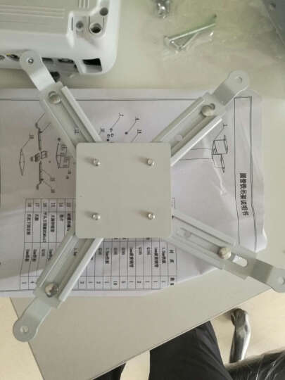 宏影(HONGYING)投影仪吊架吊顶支架家用投影机伸缩固定吊架通用地投爱普生明基索尼投影调节架子 HY-GT1米白色 晒单图
