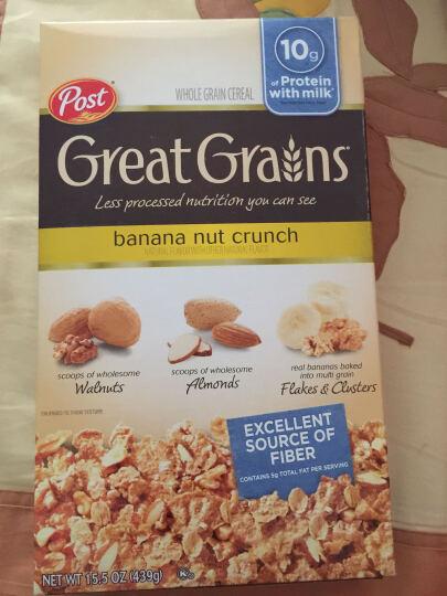 美国进口麦片 Post Cereal 宝氏谷物果味早餐 即食燕麦片 免煮冲饮 蜂蜜烘烤燕麦片411g 晒单图