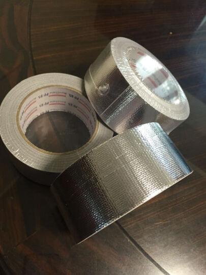 勒洁雅 玻纤布铝箔胶带防撕裂耐高温胶带防水防辐射风管胶带 晒单图