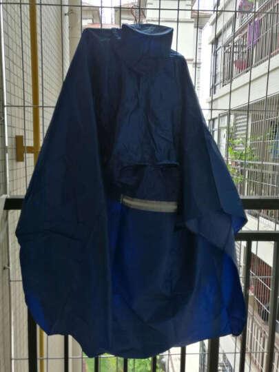 天堂电动车雨衣 单双人两用摩托车雨披男女成人加大加厚电瓶车电动自行车雨衣 宝石蓝 晒单图
