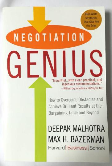 Negotiation Genius[谈判天才] 晒单图