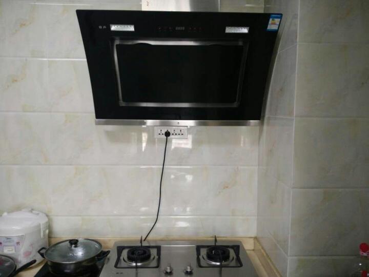 容声 油烟机灶具烟灶套装燃气灶RS03PE+RQ02L 双电机自动洗 蒸汽洗+燃气灶玻璃面板 液化气 晒单图