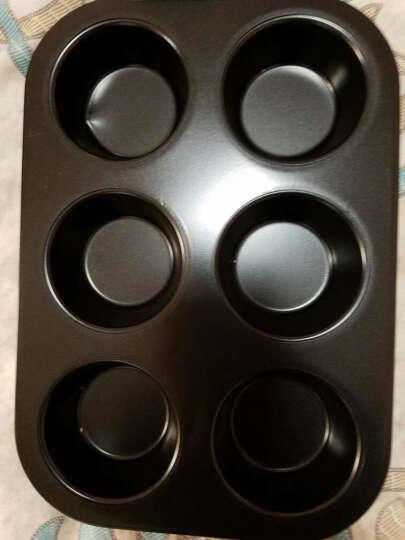 寻乐 烘焙模具套装件 工具套装 烤箱烤盘 做面包蛋挞  新手家用西点模具 黑色六件套+面粉筛+打蛋盆 晒单图