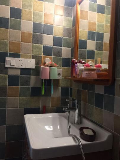 浪鲸卫浴柜 浴室柜(可选)马桶花洒套装 实木橡木 现代简约田园 浴室柜6110+马桶1065+花洒套餐 300MM 如拍套餐需在这选马桶坑距 晒单图