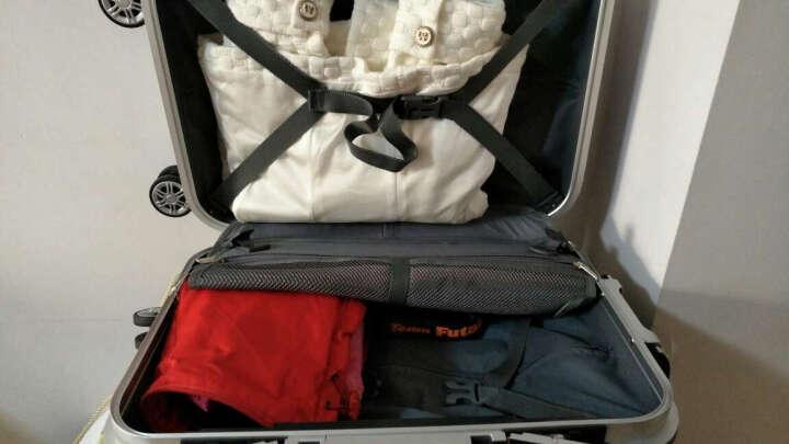 利登阿玛尼LIDENAMANI拉杆箱铝框行李箱男万向轮女旅行箱登机箱女士 玫瑰金 24寸 TSA海关锁无钥匙 晒单图