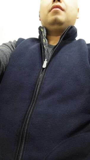 杰克焦点大码男士马甲男款两面穿防风抗寒摇粒绒背心 加厚保暖马甲男秋冬 030 宝蓝色 XL 晒单图