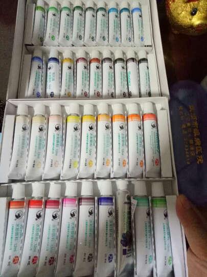 24色水粉颜料套装水粉画纸画笔调色盘盒工具套装 36色套装 12ml 支